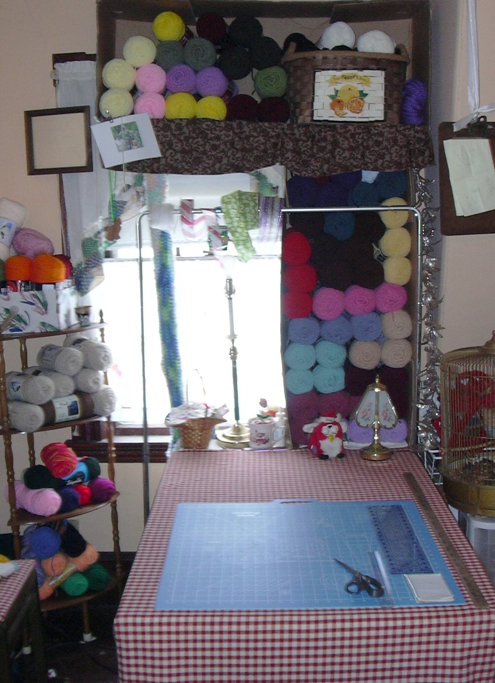 My Green Craft Room - TStitchesandCrafts Sewing, Crocheting ...